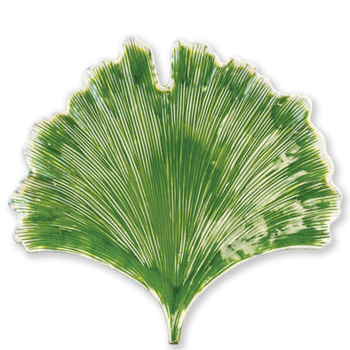 Vietri Reactive Leaves • Ginkgo Leaf Plate