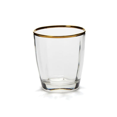 Vietri Optical Gold • Double Old Fashioned Glasses