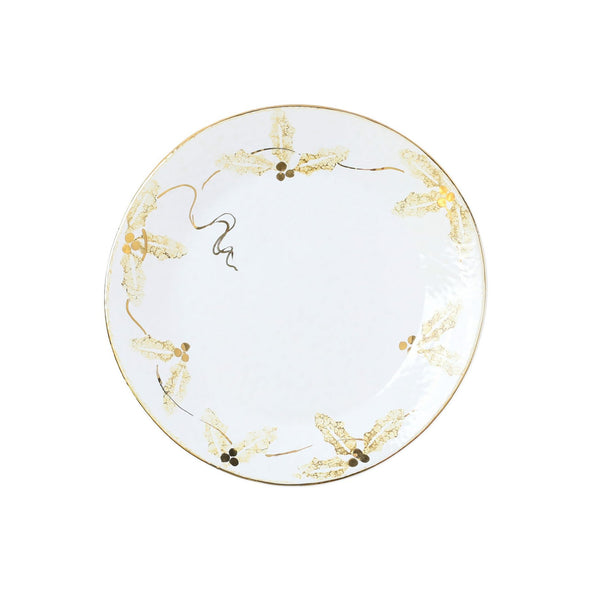 Perla Natale Holly Salad Plate