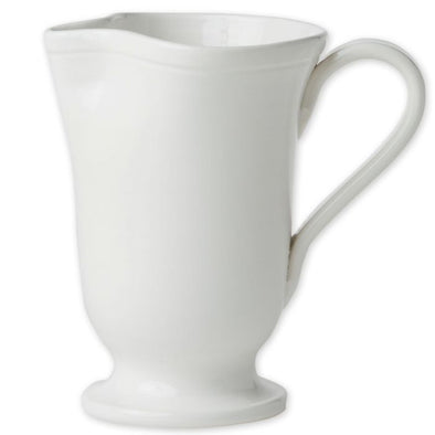 Vietri Fresh • White Large Footed Pitcher