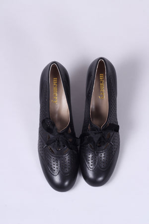 1930'er oxford pumps - Sort - Marie