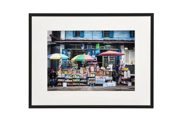 Horizontal photo of a Convenience Store in Luang Prabang, Laos, shown in a normal frame.