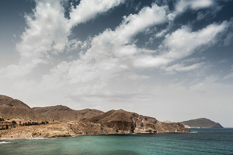View towards Cabo de Gata National Park in Andalusia.