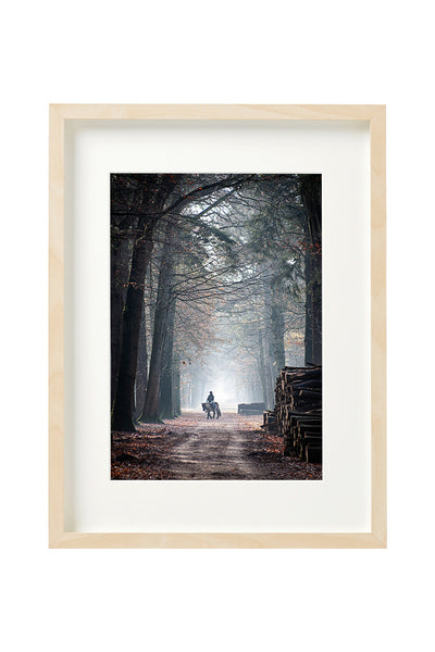 Vertical photo of a road in Mastbos, Breda, Netherlands, shown in a boxed frame.