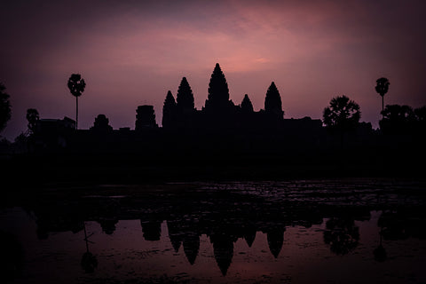 Sunrise at the majestic temple complex of Angkor Wat, Siem Reap, Cambodia.