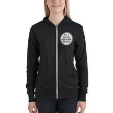 Load image into Gallery viewer, BE A GOOD HUMAN TODAY LIGHTWEIGHT ZIP HOODIE (unisex) - BE A GOOD HUMAN TODAY