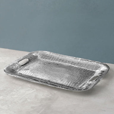 Beatriz Ball Serveware Beatriz Ball CROC Rectangular Medium Tray with Handles 7002