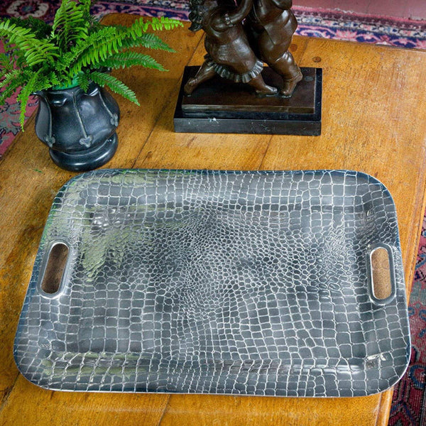Beatriz Ball Serveware Beatriz Ball CROC Rectangular XLarge Tray with Handles 7001