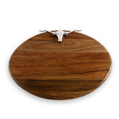 Beatriz Ball Serveware Beatriz Ball CUTTING BOARD Western longhorn ovl (lg) dark 7118