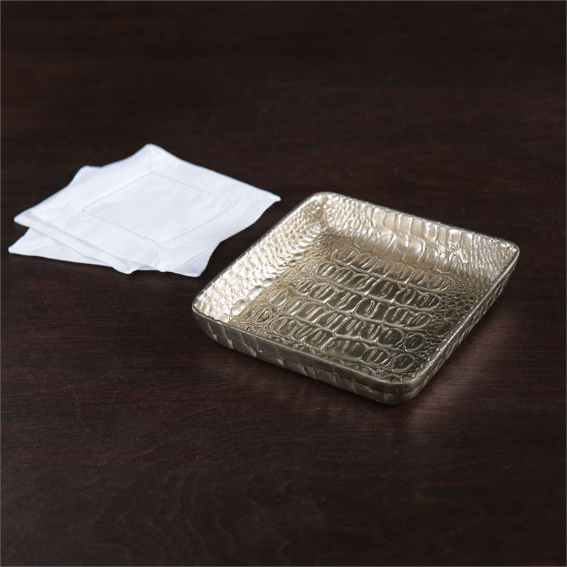 Beatriz Ball Serveware Beatriz Ball Giftables Sierra Croc Napkin Box Gold