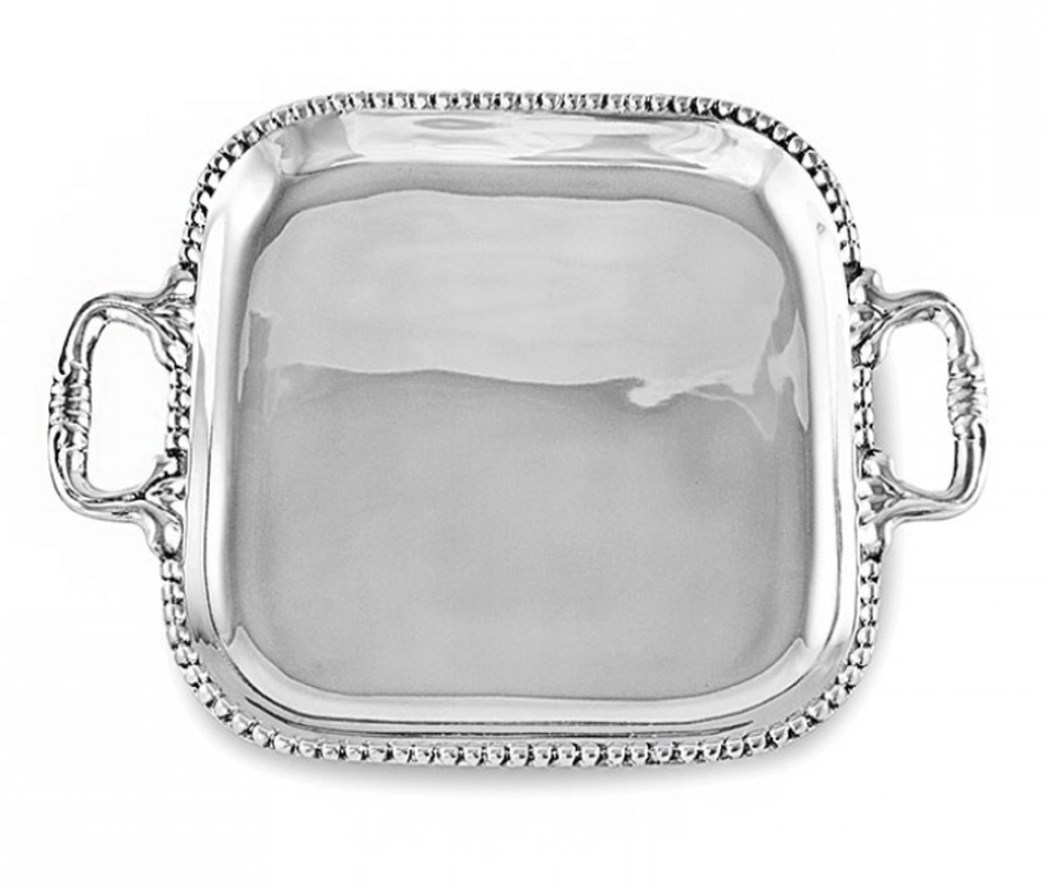 Beatriz Ball Serveware Beatriz Ball Pearl Square. Tray (Md) 6000
