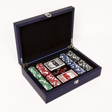 Brouk & Co Giftware Blue Lacquer 200 Chip Set