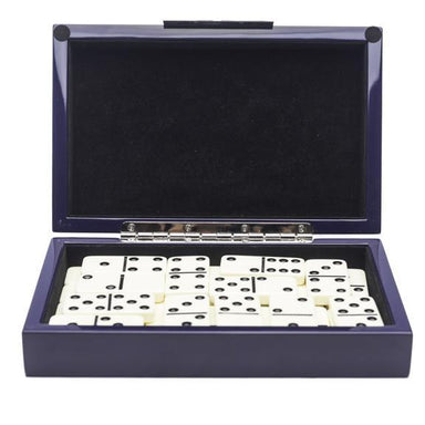 Brouk & Co Giftware Blue Lacquer Dominos set