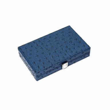 Brouk & Co Giftware Line 'Em Up Domino Set in Blue Ostrich