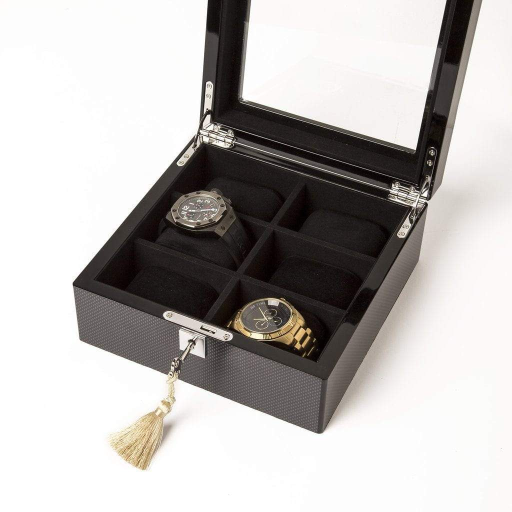 Brouk & Co Giftware The Carbon Fiber 6-slot Watch Box