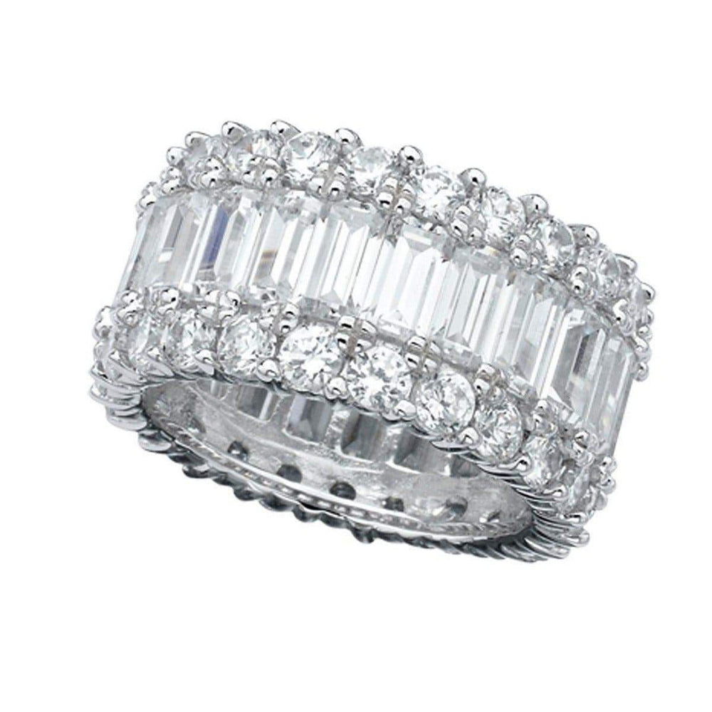 Crislu Jewelry CRISLU Baguette Eternity Band - Size 7