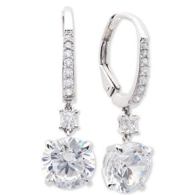 Crislu Jewelry CRISLU Brilliant 2.15 Carat Drop Earrings Finished in Pure Platinum