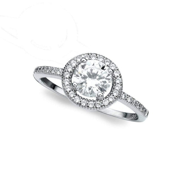 Crislu Jewelry CRISLU Brilliant Halo Ring - Size 6