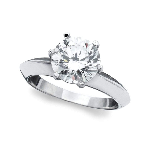 Crislu Jewelry CRISLU Classic Brilliant Solitaire Ring - Size 7