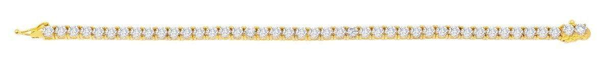Crislu Jewelry CRISLU Classic Large Brilliant Tennis Bracelet Finished in 18KT Gold - Size 7.5