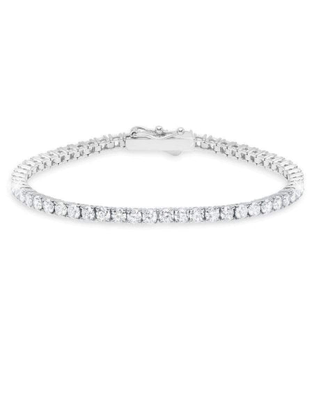 Crislu Jewelry CRISLU Classic Medium Brilliant Tennis Bracelet Finished in Pure Platinum - size 7.5