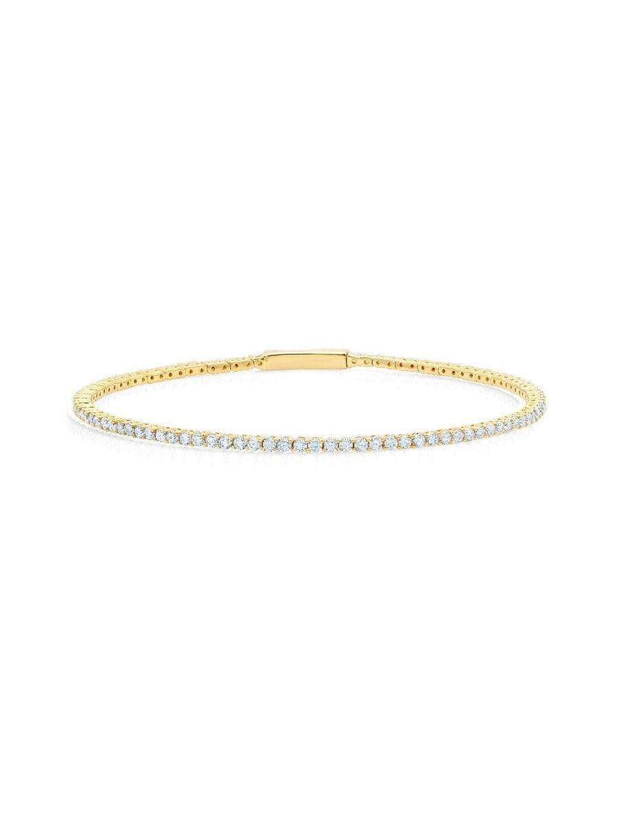 Crislu Jewelry CRISLU Flex Tennis Bracelet Finished in 18KT Gold