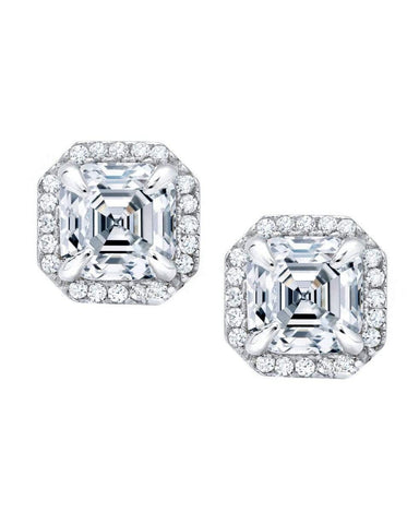 Crislu Jewelry CRISLU Heirloom 2.75 Carat Earrings Finished in Pure Platinum