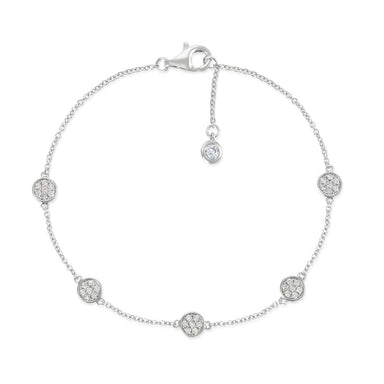 Crislu Jewelry CRISLU Multi Sugar Drop Bracelet finished in Pure Platinum