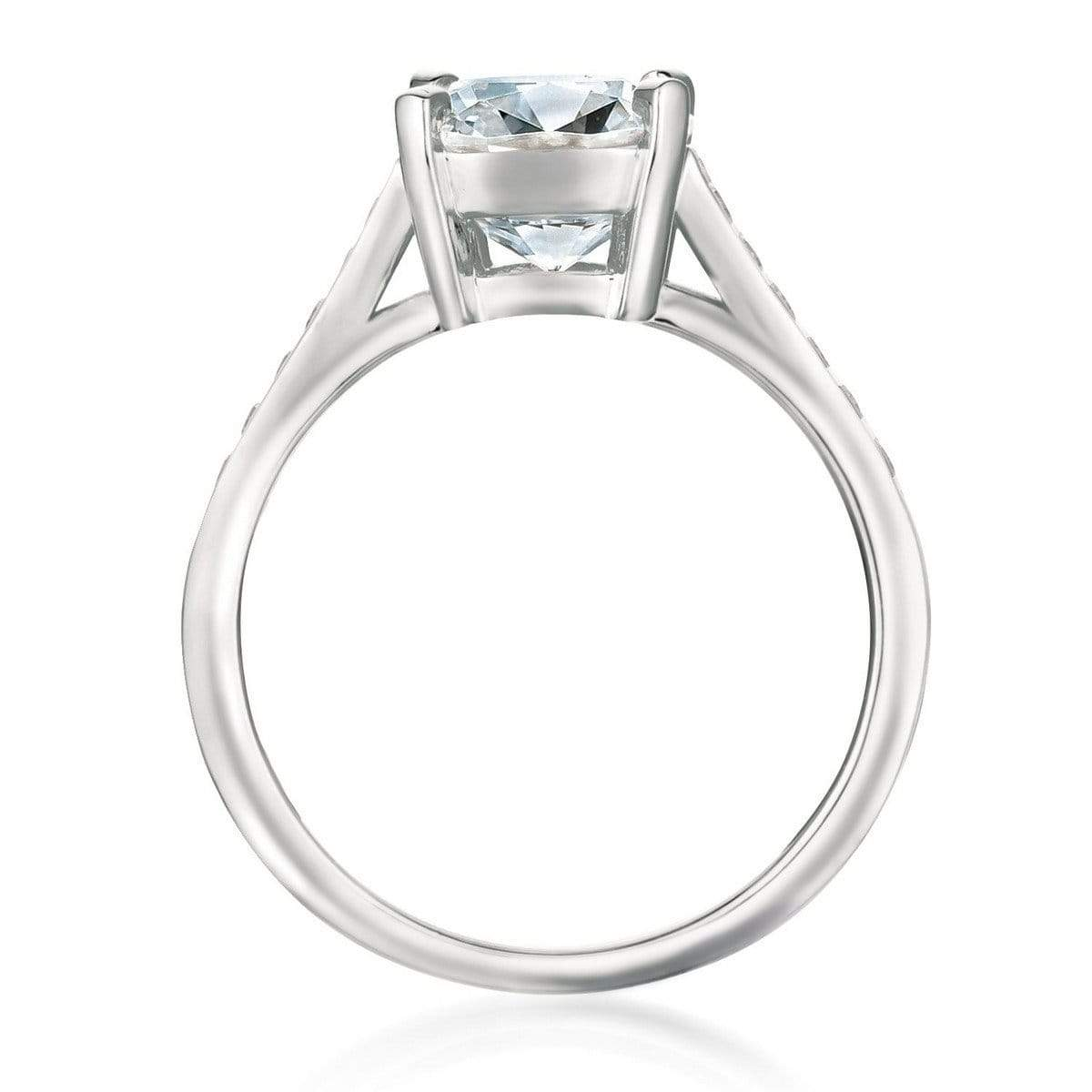 Crislu Jewelry CRISLU Radiant Cushion Cut Ring finished in Pure Platinum - Size 6