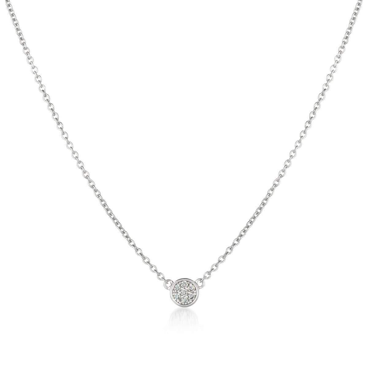 Crislu Jewelry CRISLU Single Sugar Drop Necklace finished in Pure Platinum