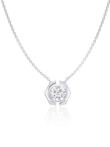 Crislu Jewelry Crislu Solara Necklace finished in Pure Platinum