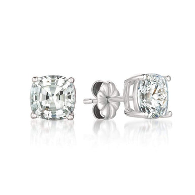 Crislu Jewelry CRISLU Solitaire Asscher Earrings 4.00 Carat Finished in 18KT Pure Platinum