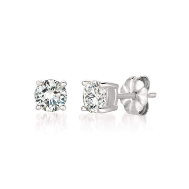 Crislu Jewelry CRISLU Solitaire Brilliant Earrings 1.00 Carat Finished in Pure Platinum