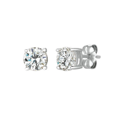 Crislu Jewelry CRISLU Solitaire Brilliant Earrings 1.50 Carat Finished in Pure Platinum