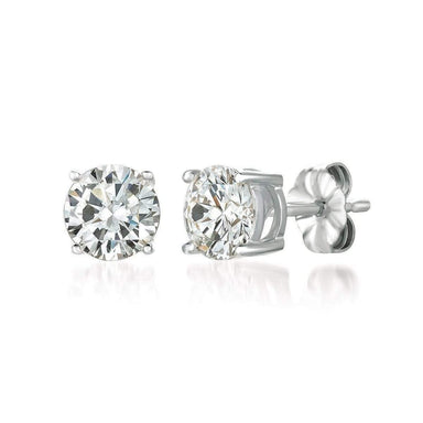 Crislu Jewelry CRISLU Solitaire Brilliant Earrings 2.00 Carat Finished in Pure Platinum