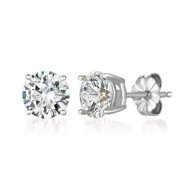 Crislu Jewelry CRISLU Solitaire Brilliant Earrings 3.00 Carat Finished in Pure Platinum