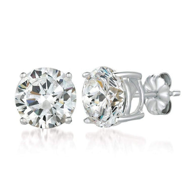 Crislu Jewelry CRISLU Solitaire Brilliant Earrings 6.00 Carat Finished in Pure Platinum
