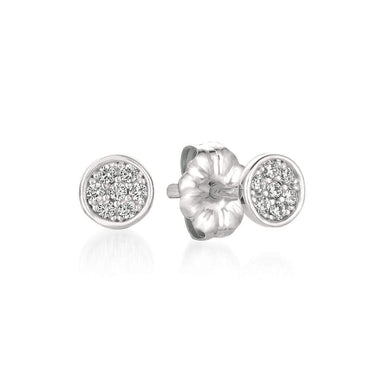 Crislu Jewelry CRISLU Sugar Drop Stud Earrings finished in Pure Platinum
