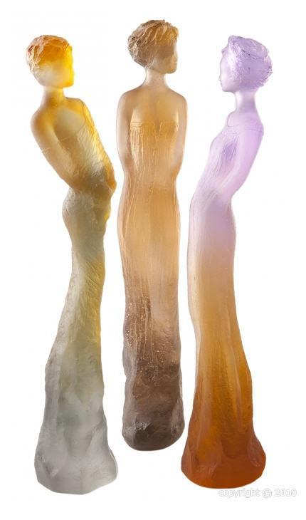 Daum Art Glass Daum Crystal Eugenie - Amber Green