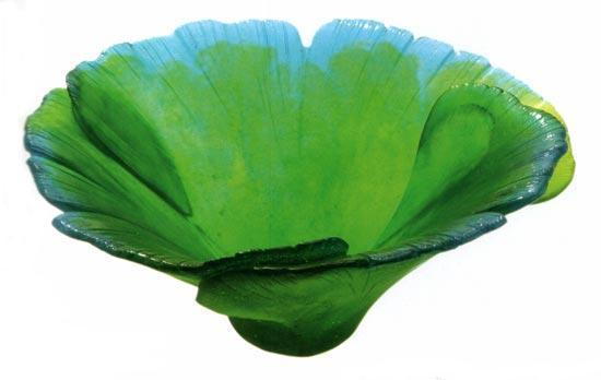 Daum Art Glass Daum Crystal Ginkgo Bowl