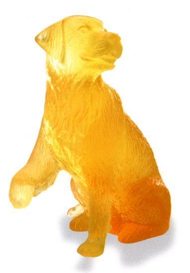 Daum Art Glass Daum Crystal Golden Retriever