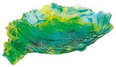 Daum Art Glass Daum Crystal Jungle Bowl