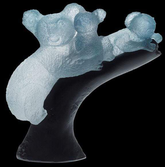 Daum Art Glass Daum Crystal Maternity Koala