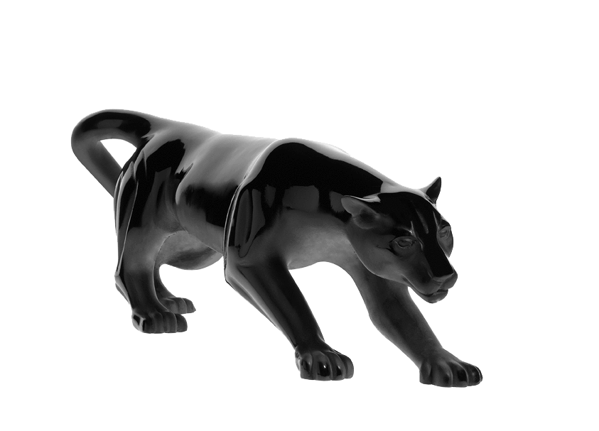 Daum Art Glass Daum Crystal Panther Magnum Black 1000ex