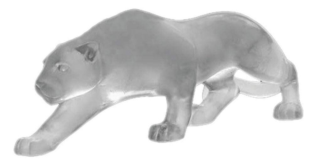 Daum Art Glass Daum Crystal Panther Small - Grey