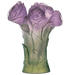 Daum Art Glass Daum Crystal Peony Vase - Green Purple