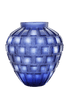 Daum Art Glass Daum Crystal Rhythms Vase - Blue