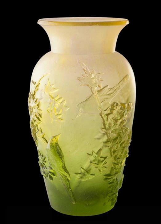 Daum Art Glass Daum Crystal Summer Vase - Green