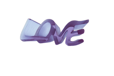 Daum Art Glass Daum Crystal True Love Ultra Violet Uv