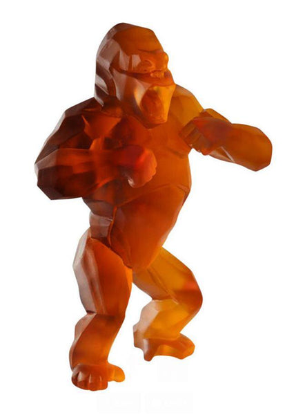 Daum Art Glass Daum Crystal Wild Kong by Richard Orlinski - Orange